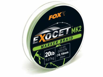 Fox Exocet MK2 Marker Braid 0,18 mm / 20 lb Green