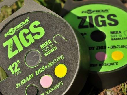 Korda Ready Tied Zig Rigs Barbless
