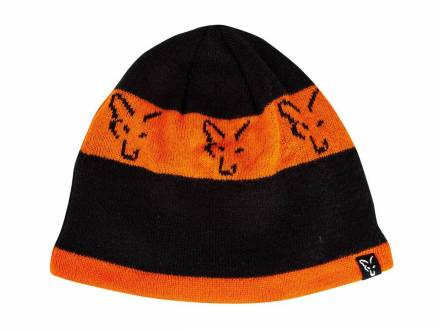 Fox Collection Beanie Black / Orange