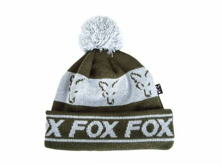 Fox Collection Fleece Lines Bobble Green / Silver