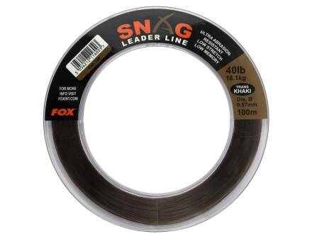 Fox Snag Leader Trans Khaki 30 lb - 13,6 kg - 0.47 mm