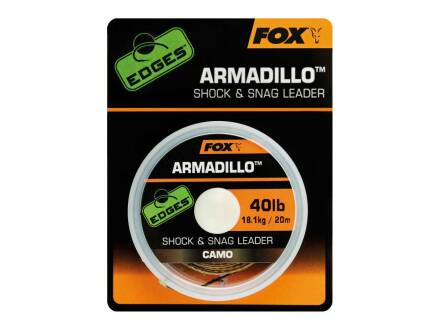 Fox Edges Armadillo Camo Shock & Snag Leader 50 lb