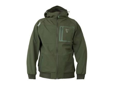 Fox Collection Green & Silver Shell Hoodie L