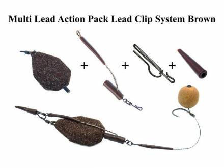 Poseidon Multi Lead Action Pack Lead Clip System Brown