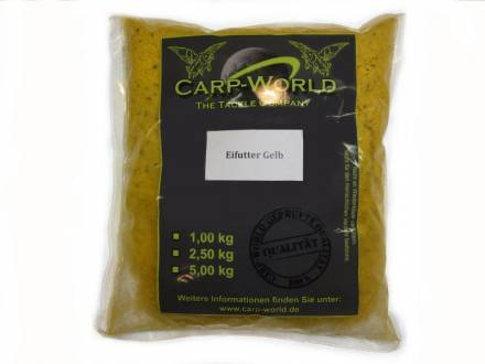 Carp World Eifutter Gelb